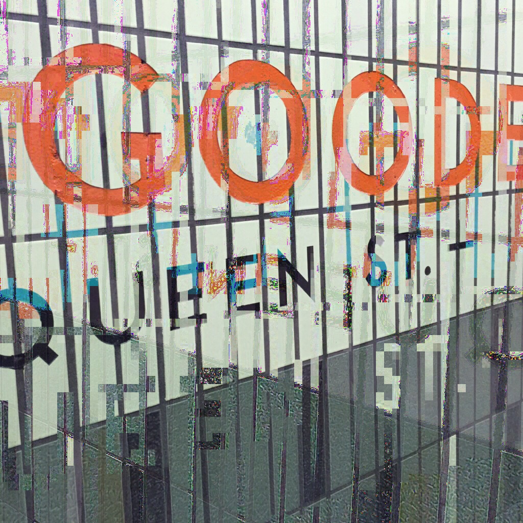 """Goody-Goody: Authenticity. Gentrification. """"Alternative fashion."""" High-end boutiques. Consumption. Displacement. Repression. Shot at Osgoode Station."""